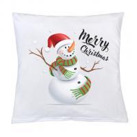 Vankúš New Baby s potlačou Merry Christmas , Barva - Biela , Rozměr textilu - 40x40