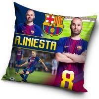 Vankúšik FC Barcelona Iniesta 2018 , Barva - Barevná , Rozměr textilu - 40x40