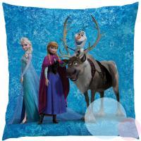 Vankúšik Frozen team , Rozměr textilu - 40x40 , Barva - Modrá