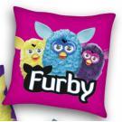 Vankúšik Furby , Barva - Ružová , Rozměr textilu - 40x40