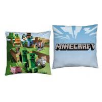 Polštářek Minecraft Farma , Barva - Modro-zelená , Rozměr textilu - 40x40