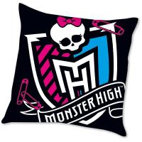 Polštářek Monster High Logo , Rozměr textilu - 40x40 , Barva - Čierna