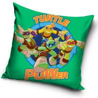 Vankúšik Korytnačky Ninja Turtle Power , Barva - Zelená , Rozměr textilu - 40x40