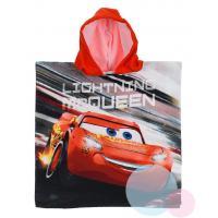 Pončo Cars Disney , Rozměr textilu - 50x100 , Barva - Černo-červená