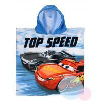 Pončo Cars micro , Barva - Světlo modrá , Rozměr textilu - 50x100