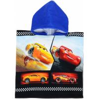 PONČO CARS Disney , Barva - Modrá , Rozměr textilu - 50x100