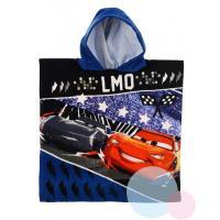 PONČO CARS Disney , Barva - Tmavo modrá , Rozměr textilu - 50x100