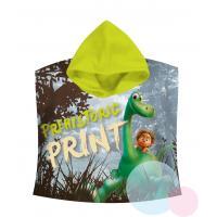 PONČO Hodný Dinosaurus , Rozměr textilu - 60x120 , Barva - Zelená