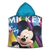 Pončo Mickey Mouse , Rozměr textilu - 60x120 , Barva - Modrá