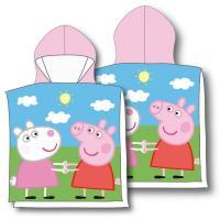 Pončo Peppa Pig , Barva - Ružová , Rozměr textilu - 50x115