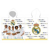 Pončo Real Madrid Hráči , Barva - Biela , Rozměr textilu - 55x110