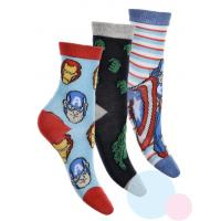 Ponožky Avengers 3ks , Velikost ponožky - 23-26