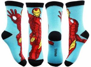 PONOŽKY AVENGERS Iron Man , Barva - Světlo modrá