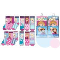 Ponožky Frozen 3 kusy , Velikost ponožky - 31-34
