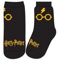 PONOŽKY HARRY POTTER , Velikost ponožky - 23-26 , Barva - Čierna