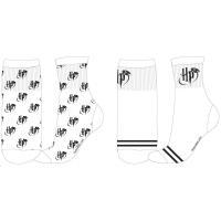 PONOŽKY HARRY POTTER , Velikost ponožky - 35-38 , Barva - Biela