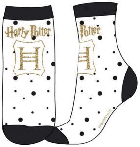 PONOŽKY HARRY POTTER , Velikost ponožky - 23-26 , Barva - Biela