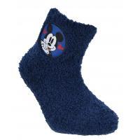 PONOŽKY MICKEY fleec , Velikost ponožky - 23-26 , Barva - Tmavo modrá