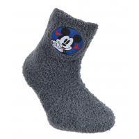 PONOŽKY MICKEY fleec , Velikost ponožky - 23-26 , Barva - Tmavo šedá