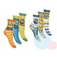 Ponožky Mimoni - 3 kusy , Velikost ponožky - 27-30