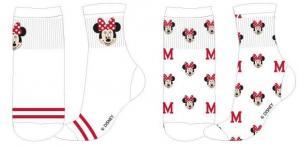 PONOŽKY MINNIE , Velikost ponožky - 35-38 , Barva - Biela