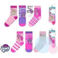 PONOŽKY MY LITTLE PONY 3ks , Velikost ponožky - 23-26 , Barva - Barevná