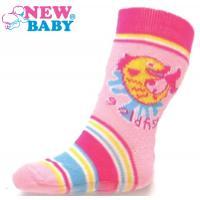 Ponožky New Baby s ABS růžové gold fish , Barva - Ružová , Velikost - 74