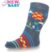 Ponožky New Baby s balónem , Barva - Šedá , Velikost - 74