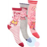 Ponožky Peppa Pig 3ks , Velikost ponožky - 31-34 , Barva - Ružová