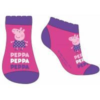 Ponožky Peppa Pig - členkové , Barva - Tmavo ružová , Velikost ponožky - 31-34