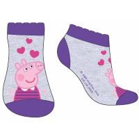 Ponožky Peppa Pig - členkové , Barva - Fialová , Velikost ponožky - 31-34