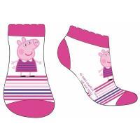 Ponožky Peppa Pig - členkové , Barva - Malinová , Velikost ponožky - 31-34