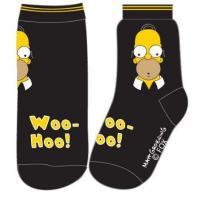 PONOŽKY Homer SIMPSON , Velikost ponožky - 39-42 , Barva - Čierna