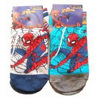 Ponožky Spiderman - členkové , Barva - Šedá , Velikost ponožky - 31-34
