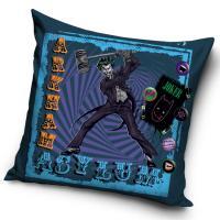 Povlak na vankúš Batman Arkham Asylum , Barva - Modrá , Rozměr textilu - 45x45