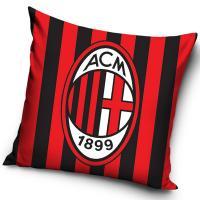 Povlak na vankúšik AC Miláno pruhy , Velikost - 40x40