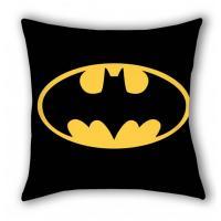 Povlak na vankúšik Batman , Barva - Čierna , Rozměr textilu - 40x40