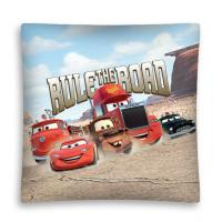 Povlak na vankúšik Cars 3 cesta micro , Rozměr textilu - 40x40 , Barva - Béžová