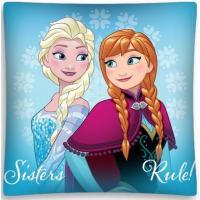 Povlak na vankúšik Frozen Anna a Elsa , Barva - Světlo modrá , Rozměr textilu - 40x40