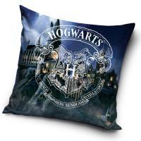 Povlak na polštářek Harry Potter Bradavická škola , Barva - Tmavo modrá , Rozměr textilu - 40x40