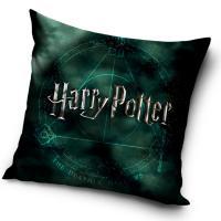 Povlak na polštářek Harry Potter Magic , Barva - Tmavo zelená , Rozměr textilu - 40x40