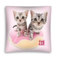 Povlak na vankúšik Mačiatka micro , Barva - Ružová , Rozměr textilu - 40x40