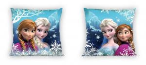 Povlak na polštářek Ledové Království sestry , Barva - Modrá , Rozměr textilu - 40x40