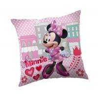 Povlak na vankúšik Minnie micro , Rozměr textilu - 40x40 , Barva - Svetlo ružová