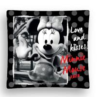Povlak na vankúšik Minnie micro , Barva - Čierna , Rozměr textilu - 40x40