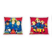 Povlak na polštářek Požárník Sam , Barva - Červeno-modrá , Rozměr textilu - 40x40