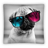Povlak na vankúšik Sweet Animals Pes micro , Barva - Šedá , Rozměr textilu - 40x40