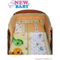 Obliečky 3-dielne New Baby Dino , Rozměr textilu - 100x135 , Barva - Oranžová