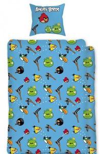 Obliečky Angry Birds , Barva - Modrá , Rozměr textilu - 140x200