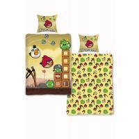 Obliečky Angry Birds Búrka 140x200 , Barva - Žltá , Rozměr textilu - 140x200